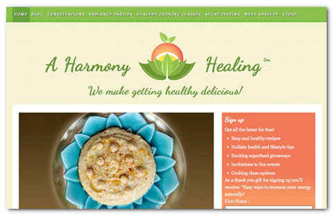 A Harmony Healing WordPress Design by Brian Lis