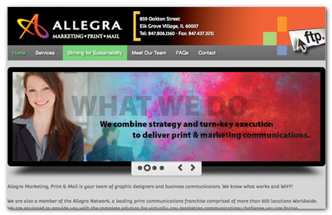 Allegra: web design by Brian Lis