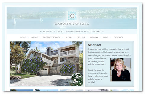 Carolyn Santoro: web design by Brian Lis
