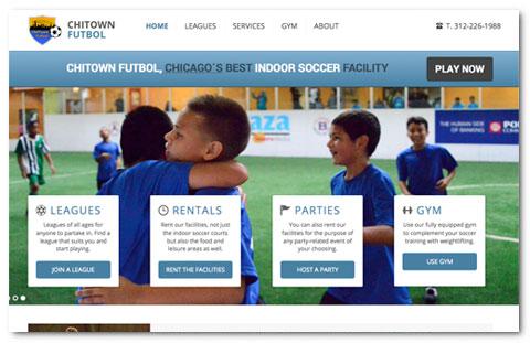 Chitown Futbol: web design by Brian Lis