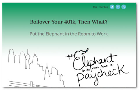 Elephants Paycheck: web design by Brian Lis