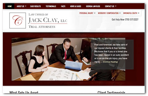 Jack Clay WordPress Design by Brian Lis
