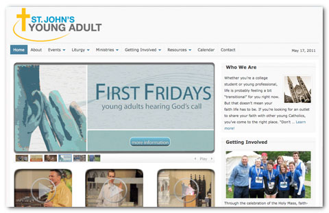 St. Johns Young Adult WordPress Design by Brian Lis