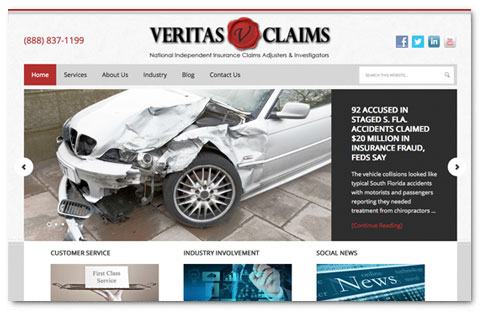 Veritas Claims: web design by Brian Lis