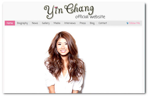 Yin Chang: web design by Brian Lis